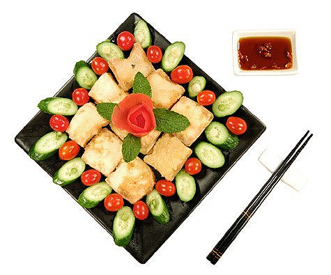 Crispy Tofu Triangles With Asian Dipping Sauce Recipes — Dishmaps
